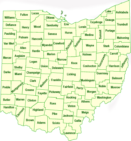 Gallery For Gt Map Of All Ohio Cities