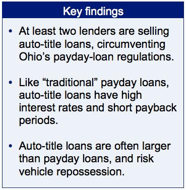 Lenders Skirt Ohio Payday Law Seek Auto Titles As