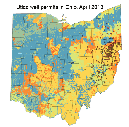Fracking In Wyoming Map.Fracking In Carroll County Ohio An Impact Assessment